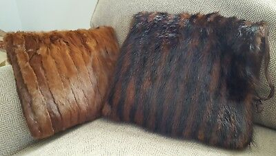 Vintage Mink Fur Muff hand warmer purse  Two Flawless Pieces for One Price