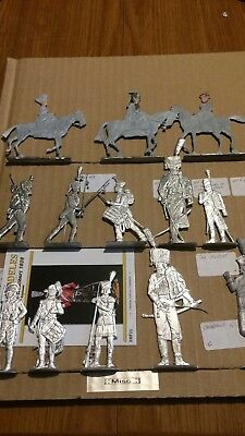 Miscellaneous Flat Tin Figures For Painting