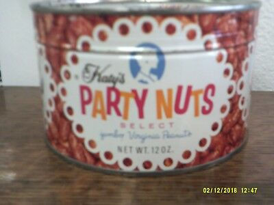 Katy's Party Nuts 1960s unopened tin Kathryn Beich