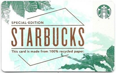 """Starbucks Gift Card """"Special Edition Recycled Paper"""" 2018 Mint"""