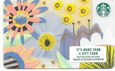 "Starbucks Gift Card ""Spring Flowers"" 2018 Mint"