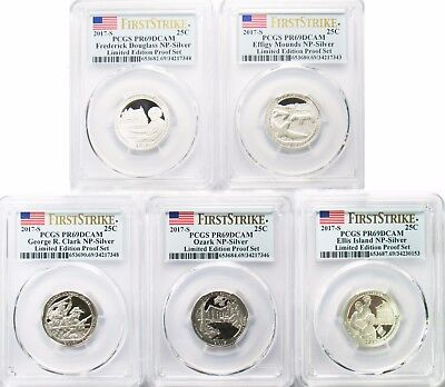 2017 S NP Limited Edition Proof Set Silver Quarter 5 Coin Lot PCGS PR69DCAM FS