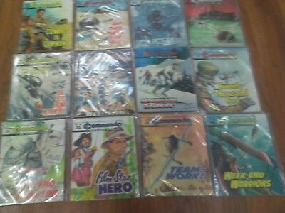 Job Lot Of 12 vintage COMMANDO War Picture Comics from 1970's _ No,s 551 to 2498