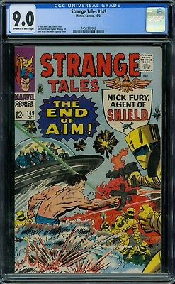 Strange Tales 149 CGC 9.0 - OW/W Pages