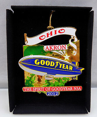 The Spirit of Goodyear Blimp N3A Akron Ohio Ornament Nations Treasures New SS06