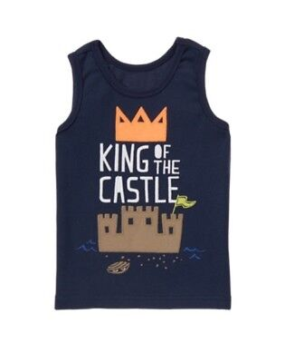 GYMBOREE CAPE COOL NAVY w/ King of The Castle TANK TOP 2T NWT