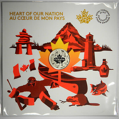 2017 Canada $3 Heart of Our Nation .999 Silver - 150th Anniv. ~ New & Unopened!