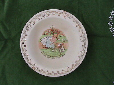 Antique  Baby Plate Dish bowl D.E. McNicol East Liverpool,