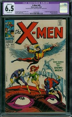 X-Men 49 CGC 6.5 - OW Pages - Restored