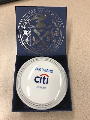 Citi Bank of New York 200 Year Anniversary Trinket holder Mottahedeh Porcelain