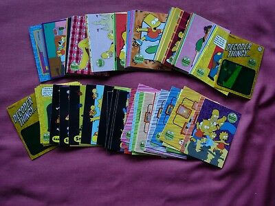 The Simpsons Anniversary Celebrations 2000 X80 set cards +extras Inkworks VFN+