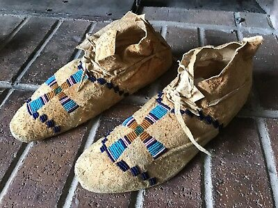Antique Native American Indian Moccasins 1890