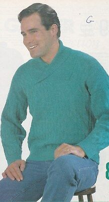 Unisex Shawl Collared Sweater Garter Carriage Pattern For Machine Knitting