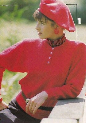 Buttoned Round Neck Shirt Style Sweater Pattern For Machine Knitting