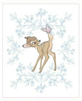 Disney Bambi Butterfly Quilt Panel * Adorable * New * Free Post *