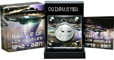 2017 1 Oz Silver BATTLE OF THE  ANGELES 1942-2017 Coin..
