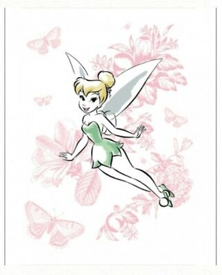 Disney Tinkerbell Quilt Panel * New * Free Post *  So Pretty *
