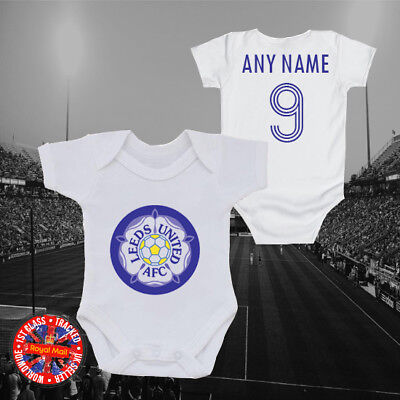 Leeds Football baby grow vest, kids t-shirt, Any name/number, United, Gift