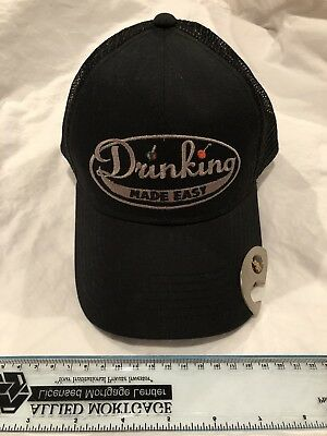 Drinking Made Easy Snap Back Hat With Bottle Opener new w/out tags Zane Lamprey