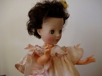 "Vintage 14"" Madame Alexander Doll  #15BAL HH In Pink Night Gown"
