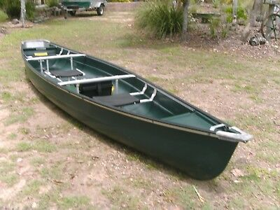 Large canoe suit family fishing or camping.
