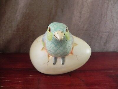 Tonala Egg Hatching Realistic Colorful Bird Figurine Mexico