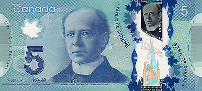 CANADA $5 / POLYMER 2013 / Unc condition. Real Beauty!