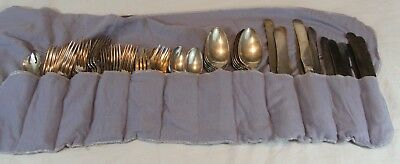 Set of 60 1847 Rogers Bros XS Triple PRISCILLA - Spoons Knives Forks - See Pics
