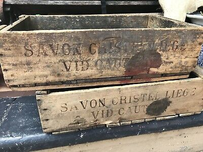 French Vintage Wooden Wine Crates Antique Rustic Purchased from Ice Et La