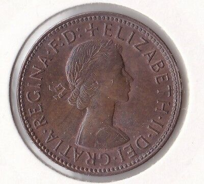CB300) Australia 1959 Halfpenny GEM uncirculated. Magnificent lustred coin