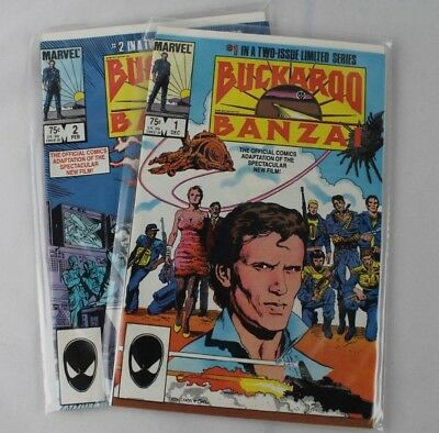 Marvel Comics Buckaroo Banzai #1 and #2 Complete Set Movie Adaptation NM