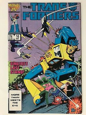 1986 Marvel THE TRANSFORMERS # 16, Bumblebee's Last Stand, Very Fine/Near Mint!