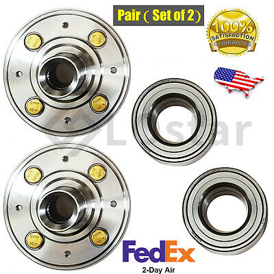 Pair(2) Front Wheel Hub & Bearing Set For Honda Civic EX, Civic W/ABS / Acura In