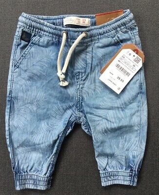 Zara Baby Denim Collection Palm Pant Size 3-6 Months NWT