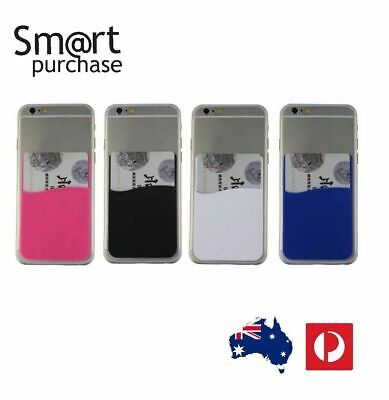 3M Adhesive Colors Smart Phone Silicone Wallet Opal Card Holder AA