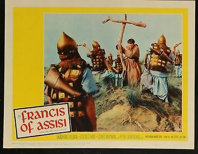 """FRANCIS OF ASSISI VINTAGE ORIGINAL 1961 MOVIE LOBBY CARD 11"""" x 14"""" POSTER"""