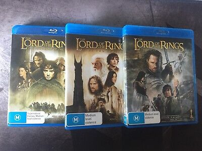 Lord Of The Rings Trilogy Blu Ray