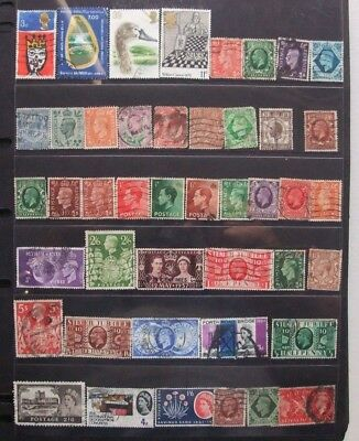 English Lot of Stamps On 13 Sheets in good condition