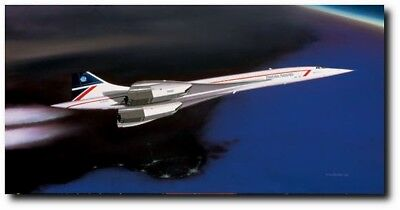 """""""Supersonic Countess"""" [Concorde] Open Edition Print signed Mike Machat"""