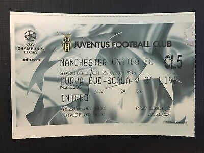 Biglietto Stadio Ticket Juventus-Manchester United Champions League 2002/'03