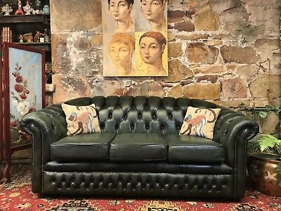 Vintage Leather Chesterfield 3 Seater Sofa-Lounge-Chair