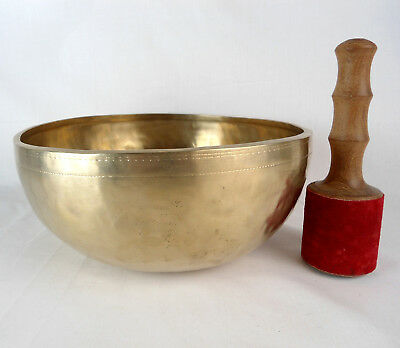 Bol chantant tibétain du Népal 2320 gr - 27,5 cm - 7 métaux  Singing Bowl
