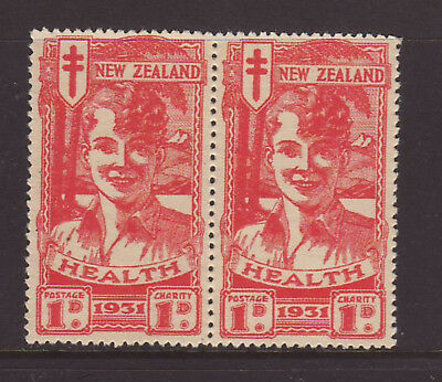 New Zealand 1931 1d on 1d Red Smiling Boy Pair MUH SG546