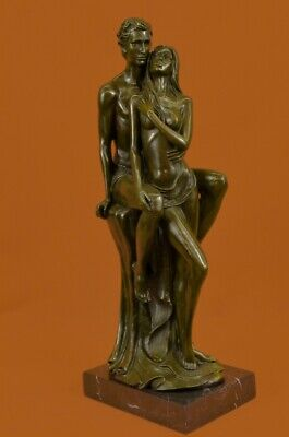 Hand Made bronze sculpture Female Male Couple Nude Cast Hot Superb