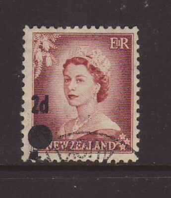 New Zealand 1958 2d on 1 1/2d QEII STARS ERROR Fine used SG 763a CP N41a
