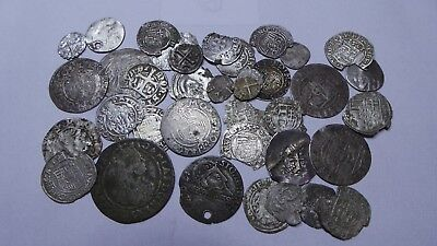 European Medieval Silver Coins (1336-1625) LOT - 38 pieces  SEE PICTURE!!