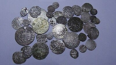 European Medieval Silver Coins (1366-1623) LOT - 36 pieces  SEE PICTURE!!