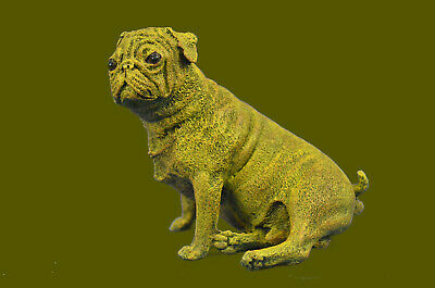Hand Made Real Miniature Austria English Bulldog Dog Animal Bronze Sculpture UG