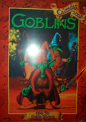 GOBLINS CALENDAR 2008 With over 50 Goblin Stickers GREAT PICTURES COLLECTABLE