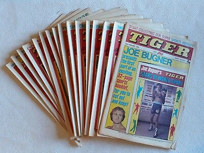 16 1974 -78 Issues of Tiger ALL HIGH GRADE UK Comic